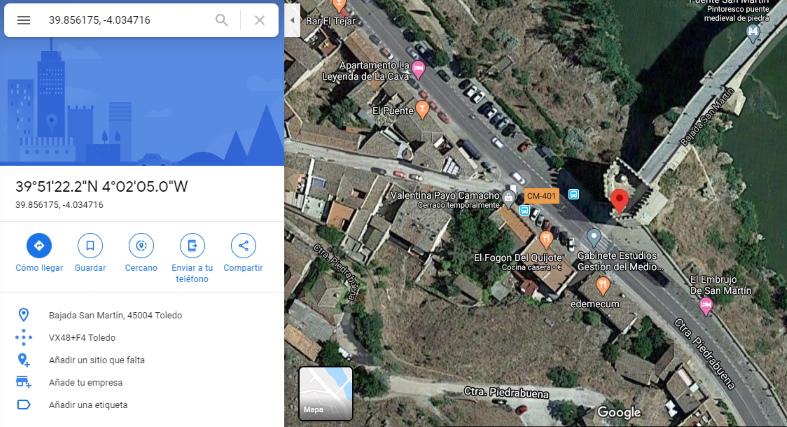 coordenadas longitud y latitud en google maps